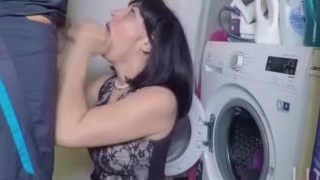 Video While Fucking My Real Step Mother In Front Of The Laundry Machine