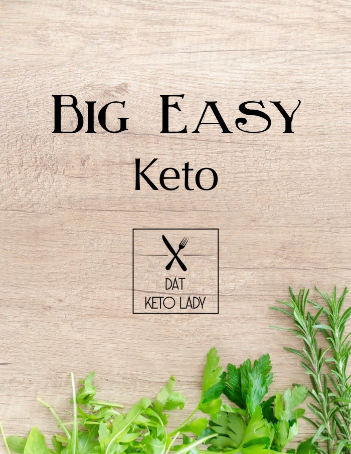 Big Easy Keto Cookbook Cover