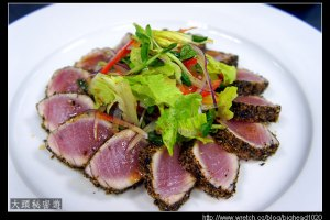 [西餐]沙拉類 香料鮪魚生菜沙拉佐和風芥末醬