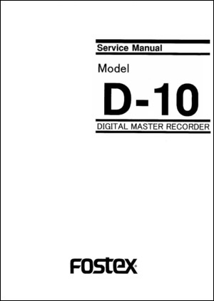 Fostex D-10 Professional Time Code DAT Recorder