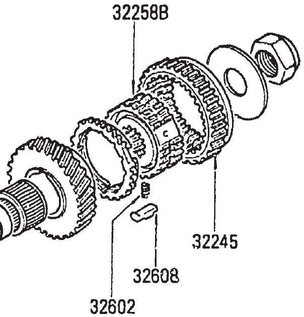 Datsun 5 speed transmission identification