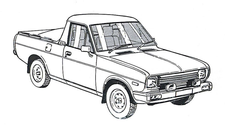UTE SKETCH : Datsun 1200 Club