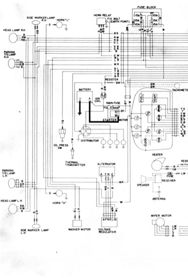 on datsun 620 pickup wiring diagram