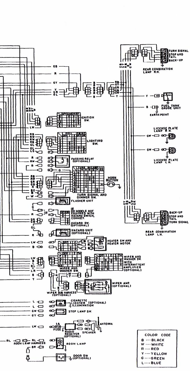 B120 Wiring Diagram 3/3 : Datsun 1200 Club