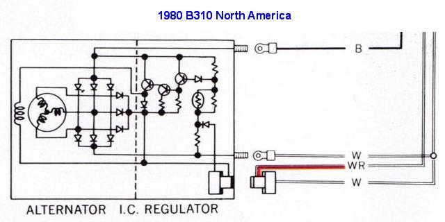 alternator wiring diagram bosch rotary phone parts datsun 210 great installation of tech wiki ir conversion 1200 club rh datsun1200 com