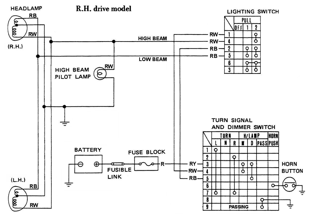 Astonishing Highbeam Wiring Diagram Standard Online Wiring Diagram Wiring Digital Resources Arguphilshebarightsorg
