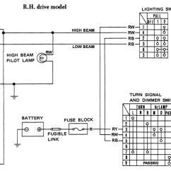 Nissan 1400 Ignition Wiring Diagram Double Light Switch Australia Headlight Circuit Rhd Datsun 1200 Club