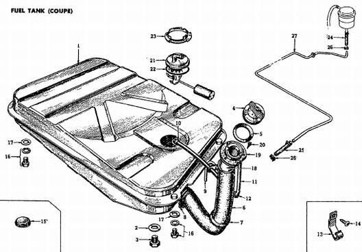 1972 Coupe Fuel Tank : Datsun 1200 Club