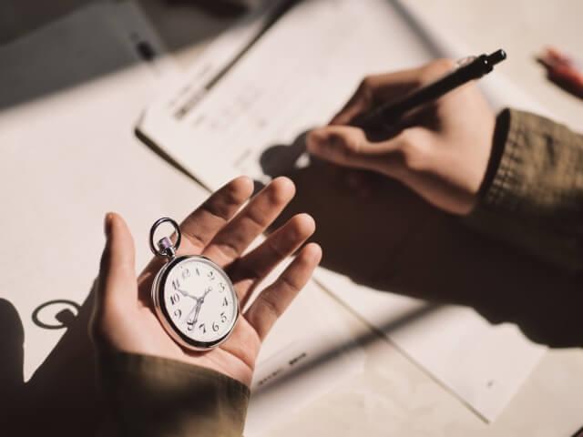 書くのに時間がかかってしまう