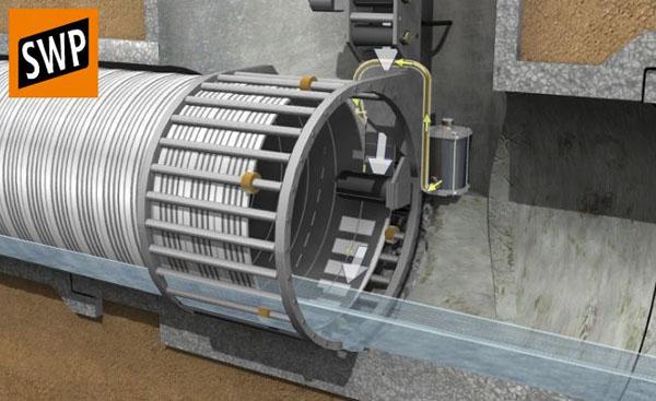 Заполнение футляра цементным раствором купить круг по бетону 150