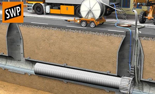 Заполнение футляра цементным раствором когда изобрели бетон