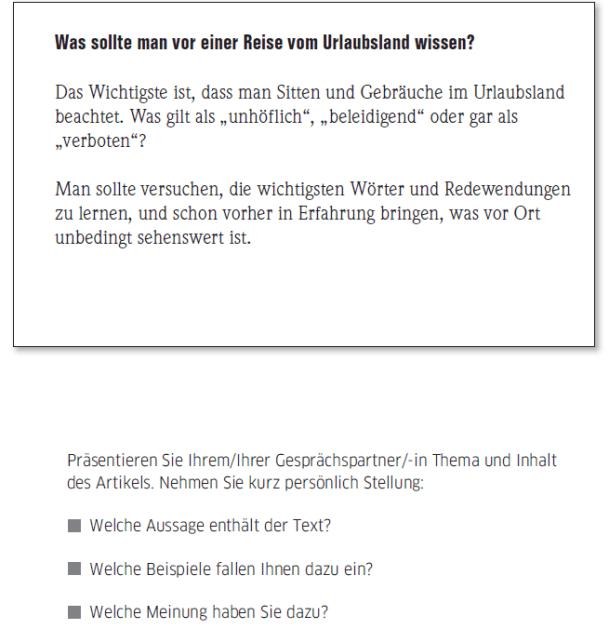 Học tiếng Đức miễn phí với DatTranDeutsch - Bài thi B2 phần nói 1a