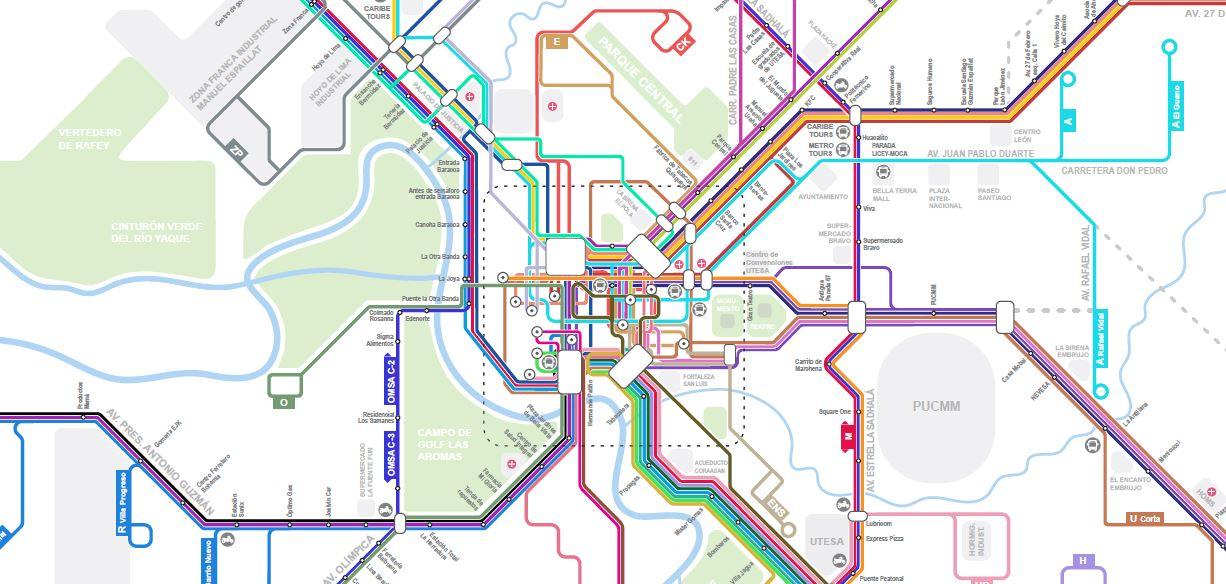 mapa esquematico santiago