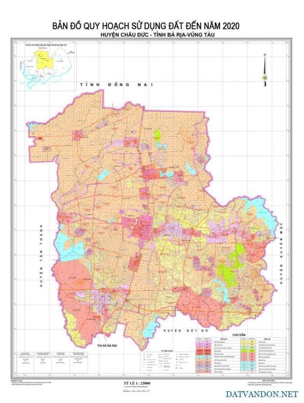 Bản đồ quy hoạch huyện Châu Đức