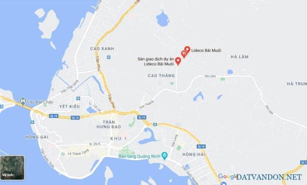 Vị trí dự án Lideco Bãi Muối