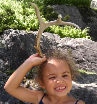 My daughter found a deer antler on a hike. An all-time favorite object of hers.
