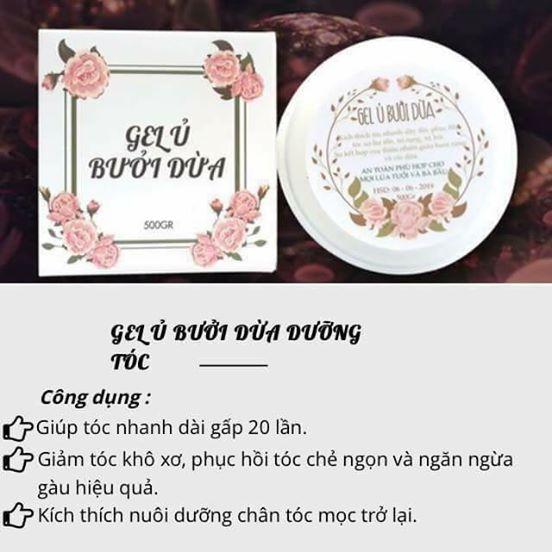 gel ủ bưởi dừa - mỹ phẩm thiên nhiên nga hoàng