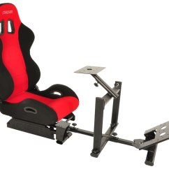 Driving Simulator Chair Leopard Accent Conquer Racing Cockpit Seat Reclinable