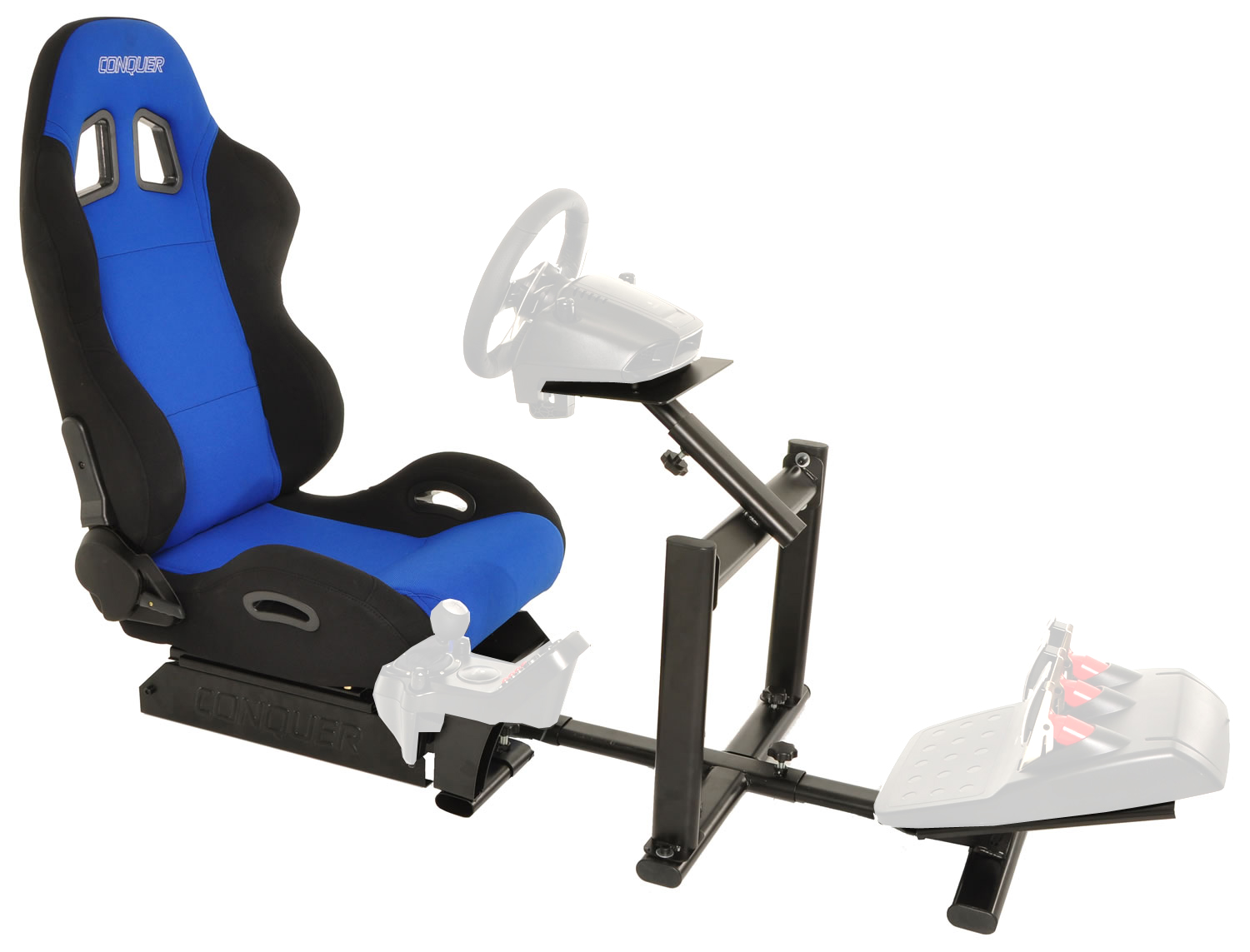 racing simulator chair hydraulic uk clear hanging conquer cockpit driving seat reclinable