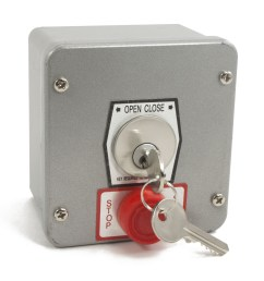 exterior surface mount keyswitch with lockout mmtc 1kxs gate opener safety [ 1600 x 1600 Pixel ]
