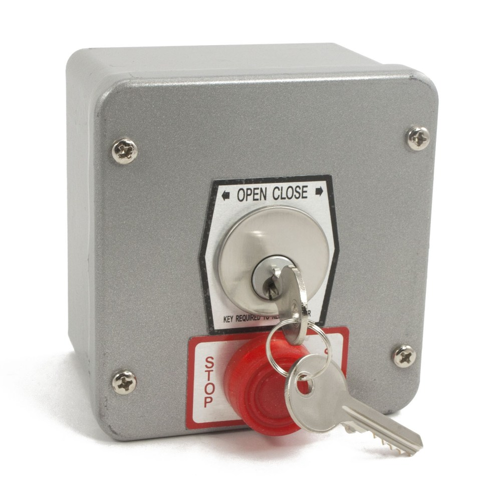 medium resolution of exterior surface mount keyswitch with lockout mmtc 1kxs gate opener safety