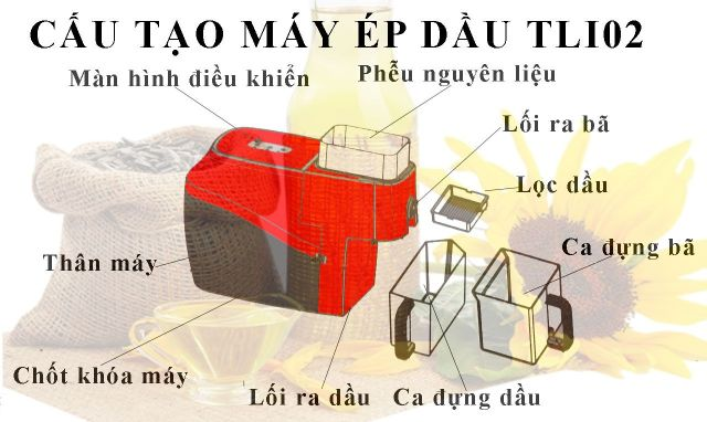 cau tao may ep dau lac mini