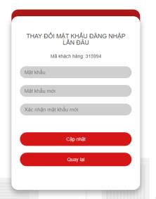 Thay đổi mật khẩu đăng nhập lần đầu trên web SmartOne