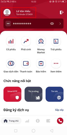 Hướng dẫn thay đổi mã pin trên ứng dụng SmartOne