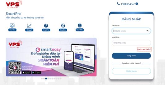 khôi phục mật khẩu trên web SmartPro