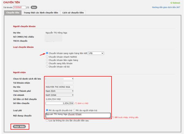 Hướng dẫn chuyển rút tiền trên web VPS SmartOne