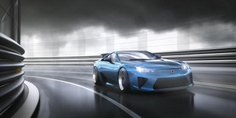 Lexus In The Wet