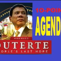 PRESIDENT DUTERTE 10-POINT AGENDA
