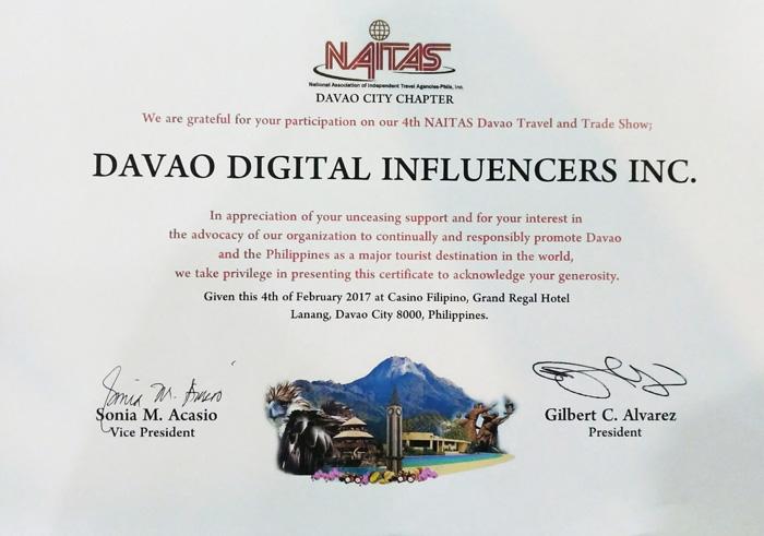 DDI Certificate of Participation