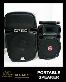 RENTALS - PORTABLE SPEAKERS WITH WIRELESS MICROPHONES