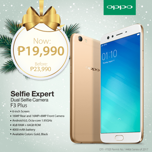 OPPO Holiday Gift Guide F3 Plus