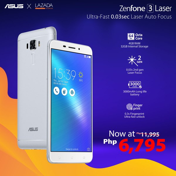 ZenFone x Lazada Flash Sale - ZenFone 3 Laser