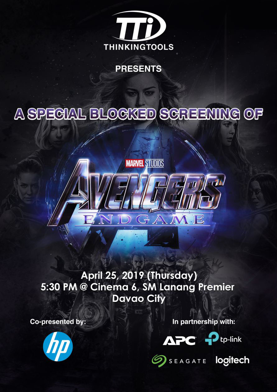 Avengers End Game Thinking Tools Promo