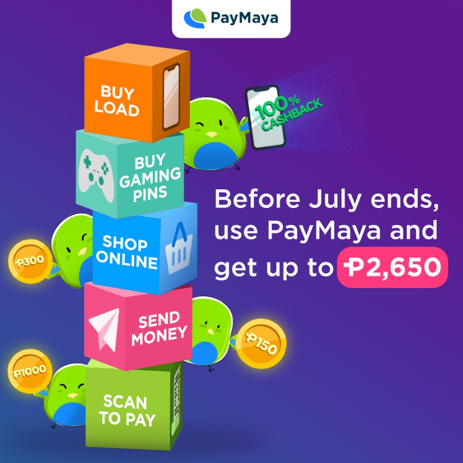 Get up to P2,650 cashback with PayMaya