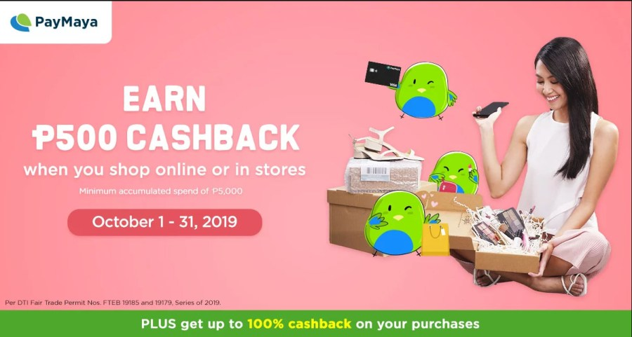 PayMaya Online PHP 500 Cashback