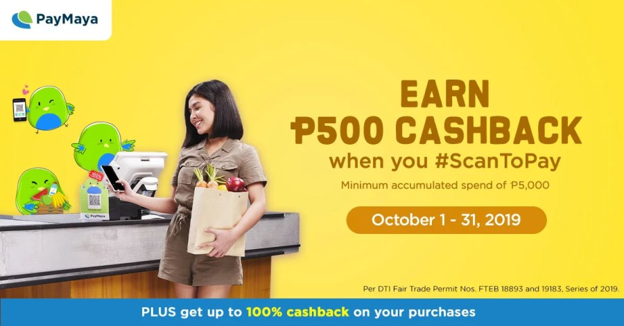 PayMaya Scan-to-Pay PHP 500 Cashback