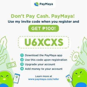PayMaya PHP 100 Referral