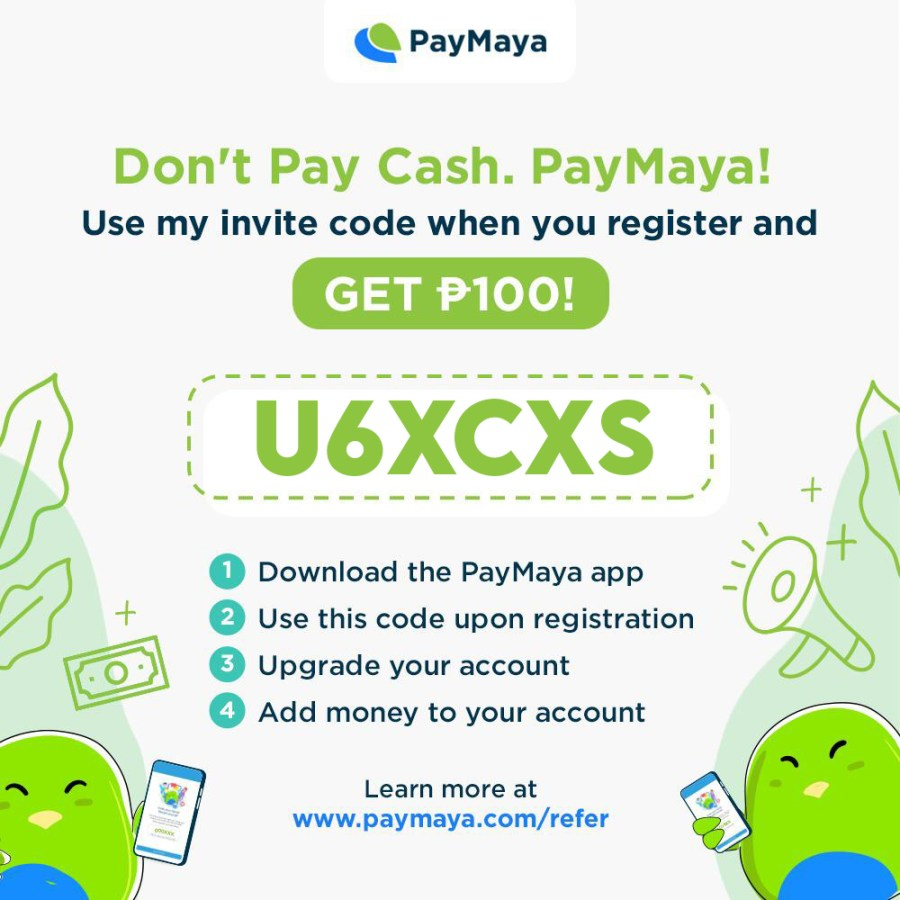 PayMaya PHP 100 Referral