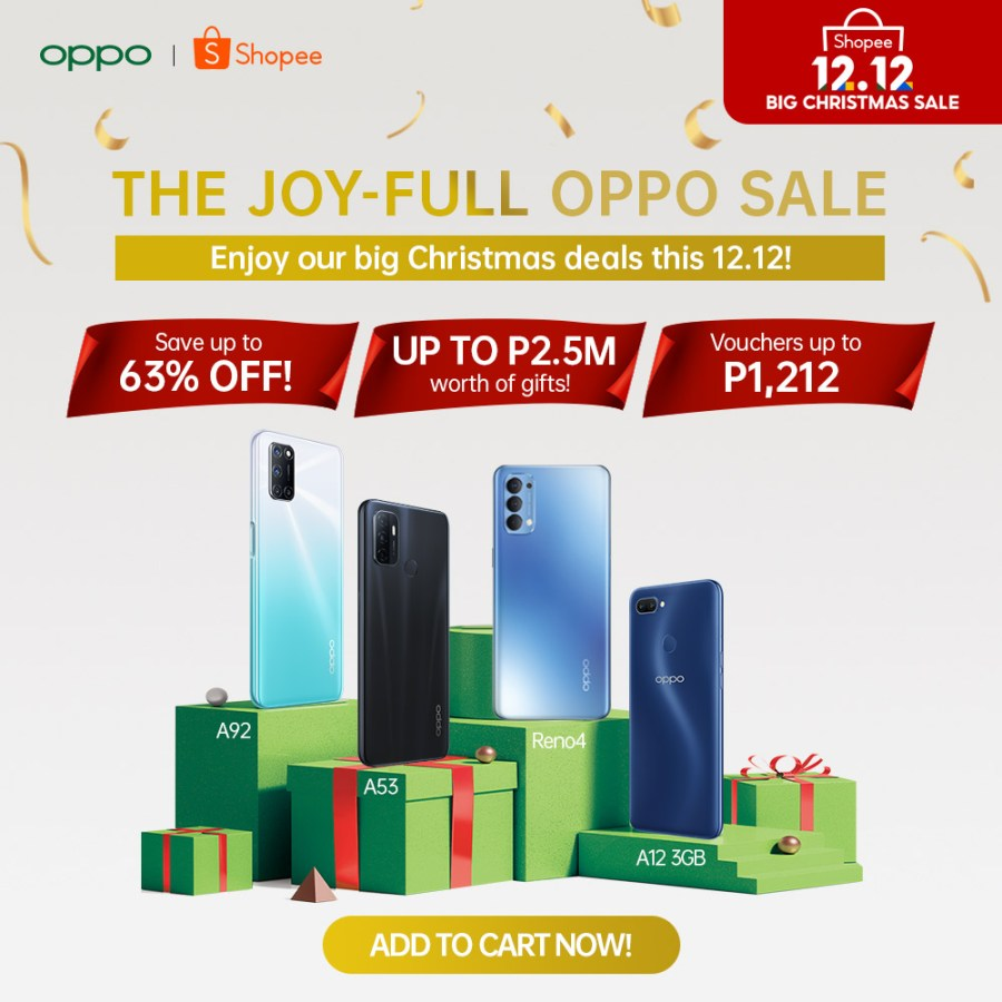 OPPO on the 12.12 Shopee Sale