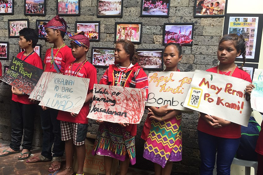 Peace talks will solve Lumad issues, not martial law