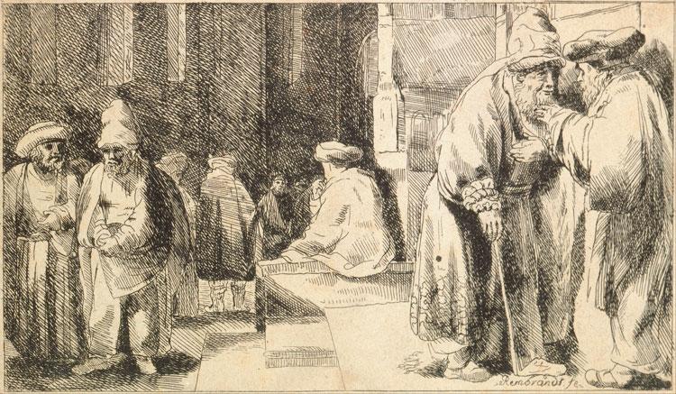 Rembrandt Jews in the synagogue DAVAR bristol jewish culture