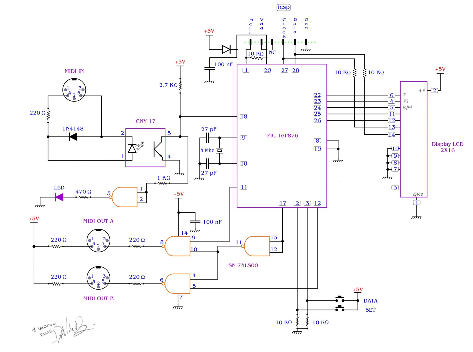 hight resolution of midi splitter with a pic16f876 davide bucci circuit schematic diagram