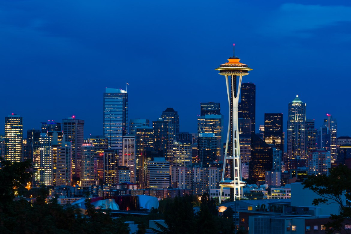 Seattle Space Needle at Twilight