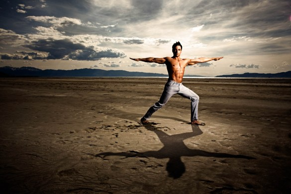 Yoga on the Great Salt Lake