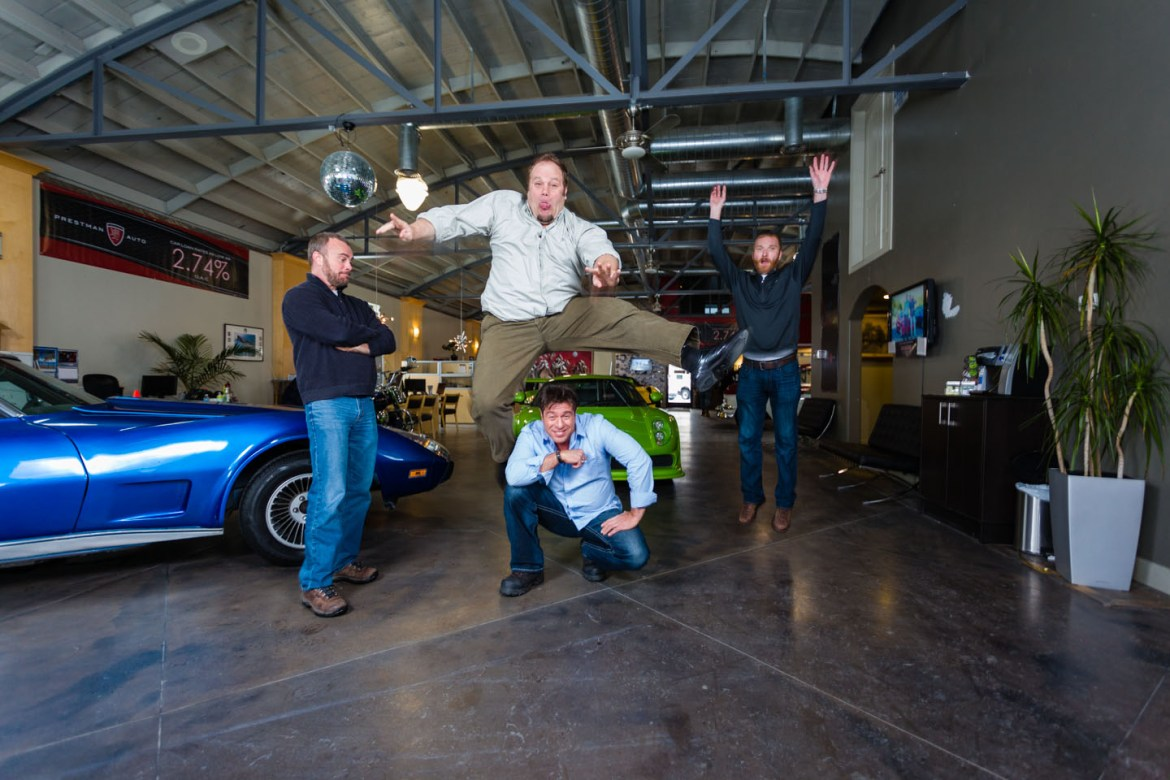 Prestman love to jump in the air for every car sold