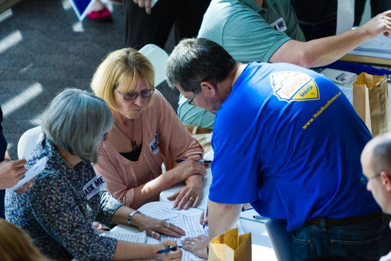 Helping delegates vote